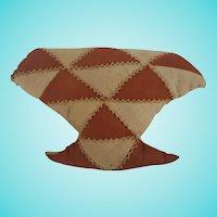 Vintage Primitive Folk Art Basket Quilt Form Pin Cushion