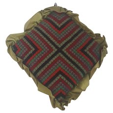 Vintage PA. Amish Folk Art Pin Cushion With Satin Trim