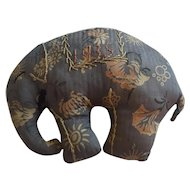 Vintage Signed & Dated 1935 Elephant Pin Cushion