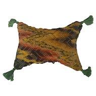 Vintage PA. Folk Art Needlepoint Flame Stitch Pin Cushion
