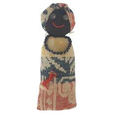 Folk Art Black Americana Pin Cushion Doll