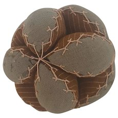 Small Antique Early 1900's PA. Amish Puzzle Ball Pin Cushion