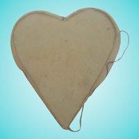 Tiny Antique Super Primitive Folk Art Heart Pin Cushion