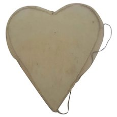 Tiny Antique Super Primitive Folk Art Heart Pin Cushion