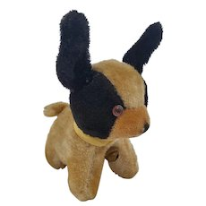Adorable Near Mint Vintage Black & White Mohair Dog Pin Cushion Whimsy