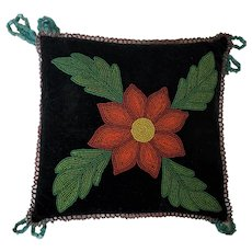 Exceptional Vintage Native American Floral Design Beaded Hatpin/Pin Cushion