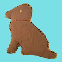 Vintage Naive Folk Art Dog Pin Cushion from my Collection