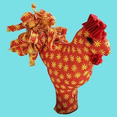 Vintage Lancaster Co. PA Folk Art Fannie Gottshall Rooster Pin Cushion Whimsy #1