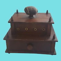 Antique 19th C. Folk Art 2-Tier Sewing Stand from my Collection