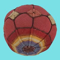 Antique Early 1900's New England Puzzle Ball Toy or Pin Cushion