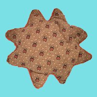 19th C. PA. Folk Art Stylized 8-Point Star Pin Cushion from Noted Collection