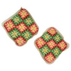 Pair Vintage Lancaster Co. PA Amish Folk Art Pin Cushions #1