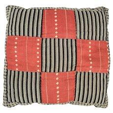 Antique Primitive Folk Art Pin Cushion in Early Fabrics