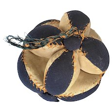 Antique Wool & Satin Puzzle Ball Pin Cushion