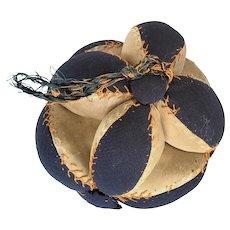 Antique Wool & Satin Puzzle Ball Pin Cushion