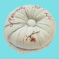 """Vintage """"Round to it"""" Hatpin/Pin Cushion"""