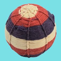 Late 19th C. PA. Folk Art Yarn Ball Pin Cushion #1