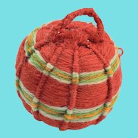 Late 19th C. PA. Folk Art Yarn Ball Pin Cushion #2