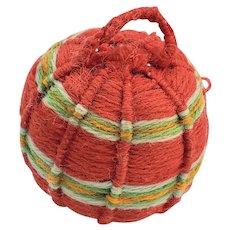 Late 19th C. PA. Folk Art Yarn Ball Pin Cushion #2