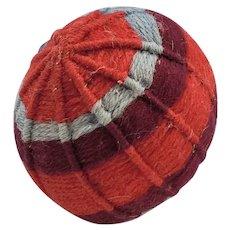 Late 19th C. PA. Folk Art Yarn Ball Pin Cushion #4