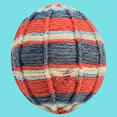 Late 19th C. PA. Folk Art Yarn Ball Pin Cushion #5
