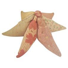 Sweet Vintage Depression Era Folk Art 6-Point Star Pin Cushion