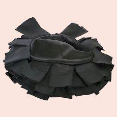 Adorable Antique Victorian Black Ladies' Mourning Hat/Bonnet