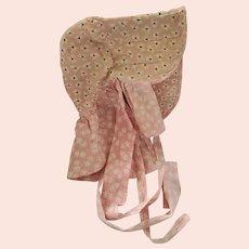 Sweet Vintage Pink Print Women's Pioneer Bonnet