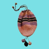 Diminutive Vintage 1920's Crocheted Reticule Purse
