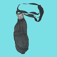 Antique Victorian Black Silk Reticule Purse w/Collapsible Metal Closure