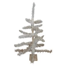 Vintage 2 Foot Silver & White Tabletop Christmas Tree from my Collection