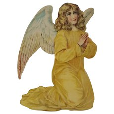 Antique Die-Cut Stand-Up Kneeling Angel from Creche