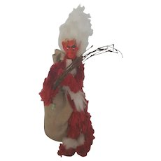 Rare Vintage New Old Stock Krampus Christmas Decoration