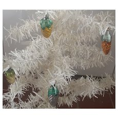 Group of 4 Vintage Mercury Glass Pine Cone Christmas Ornaments