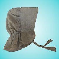 Vintage Primitive PA. Homespun Woman's Bonnet
