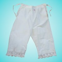 "Antique Victorian Pantaloons/Bloomers with Initial ""C"""