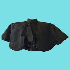 Beautiful Antique Victorian Ladies' Black Short Cape