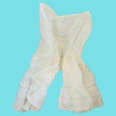 Antique Victorian Pantaloons/Bloomers with Lace Ruffles