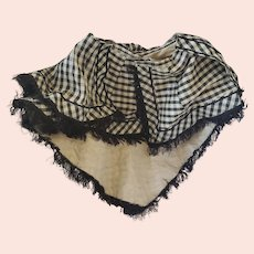 Antique Victorian Black & White Checked Woman's Cape from Buchanan's Wheatland Mansion
