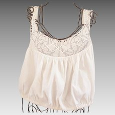 Early 1900's Camisole with Crocheted Top