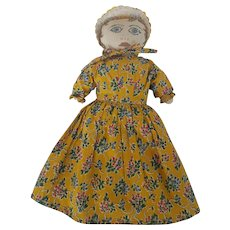 Vintage Folk Art Pioneer Rag Doll From Oregon Centennial 1859-1959