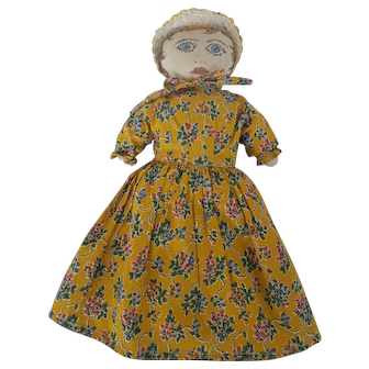 Vintage Folk Art Pioneer Rag Doll From Oregon Centennial 1859-1959