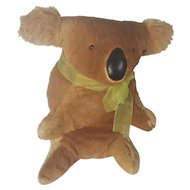 Unusual Vintage Handmade Folk Art Koala Bear Stuffed Toy