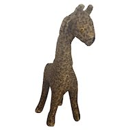 "Vintage 28"" Tall Handmade Folk Art Giraffe Stuffed Toy"
