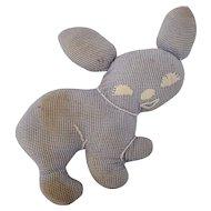 Small Vintage Primitive Folk Art Rabbit Stuffed Toy