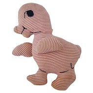 Small Vintage Primitive Folk Art Duck Stuffed Toy