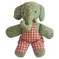 Vintage PA. Folk Art Elephant Stuffed Toy