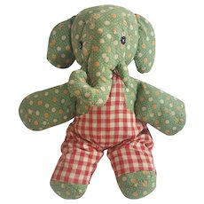 Vintage PA. Folk Art Elephant Stuffed Toy