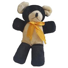 "Tiny 6"" Vintage Black & White Mohair Teddy Bear"