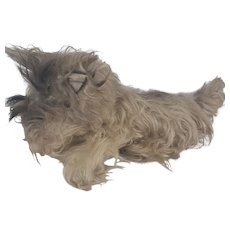 Vintage Lize-Size Shaggy Scottie Dog Stuffed Toy